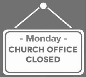 Church Office is Closed on Monday, January 21